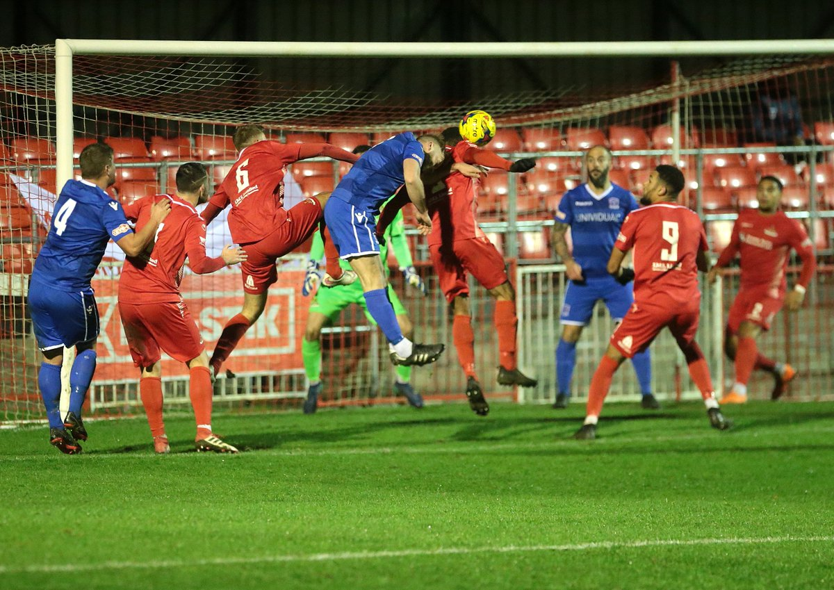 Goalmouth action at Frome Town