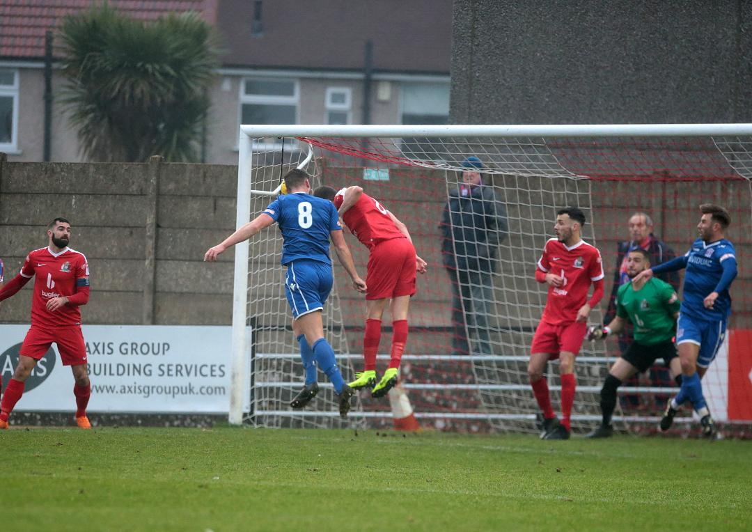 Mat Liddiard heads home our second goal