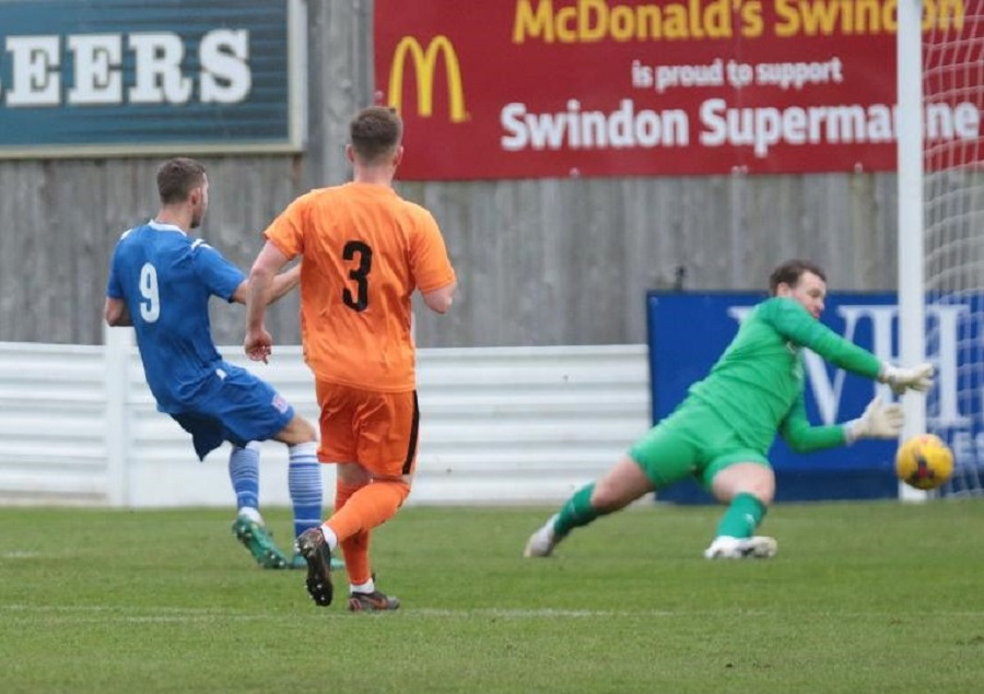Harry Williams scores the opening goal