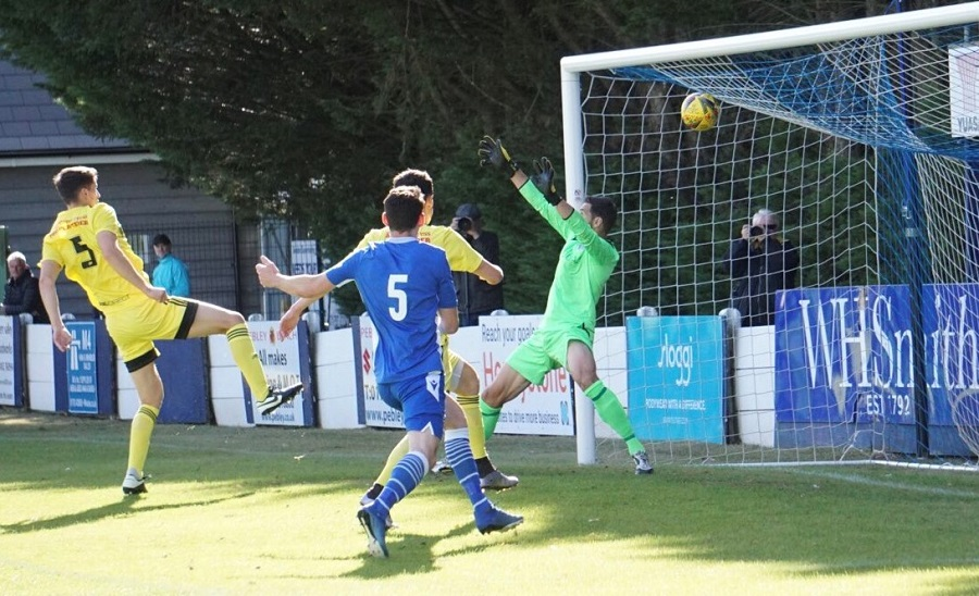 Michael Peck equalises for Tiverton