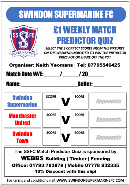 Match predictor quiz