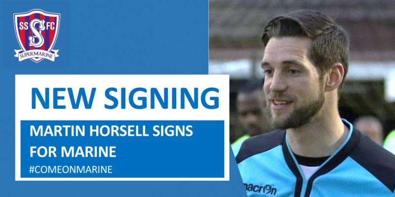 Martin Horsell signs for Marine