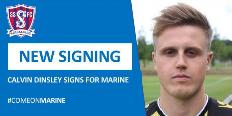 Calvin Dinsley signs for Marine