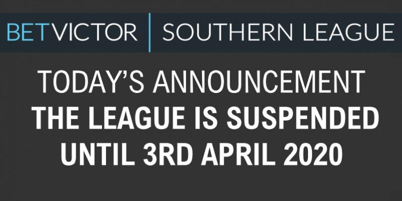 Southern League Suspended