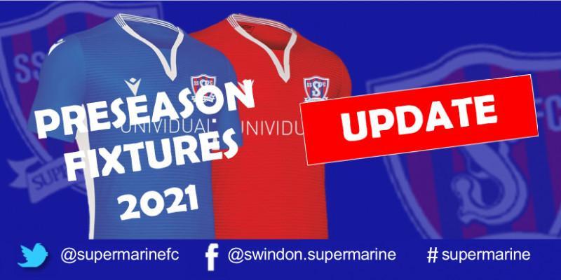 Preseason Fixtures 2021 Update