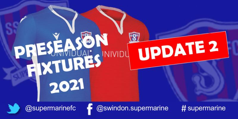 Preseason Fixtures 2021 Update 2