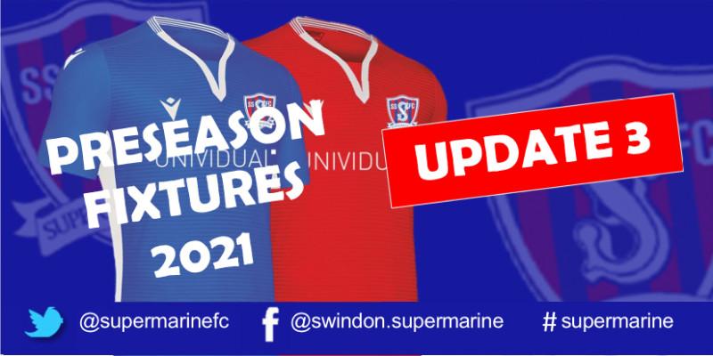 Preseason Fixtures 2021 Update 3