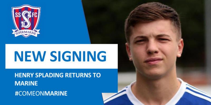 Henry Spalding returns to Marine